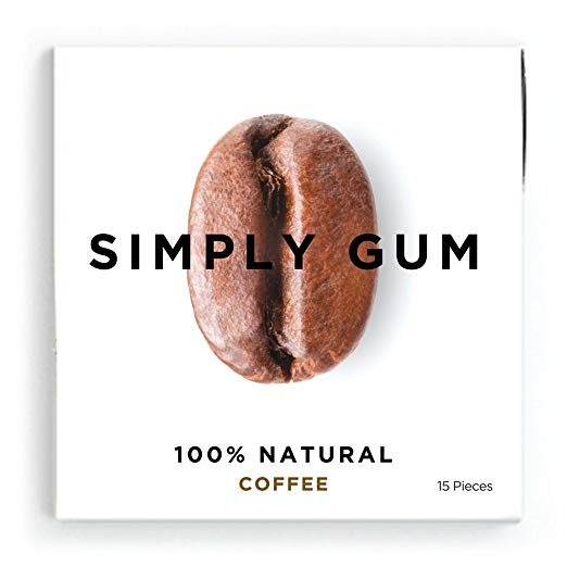 Simply Gum Coffee Natural Chewing Gum, Non GMO, Vegan