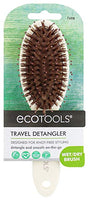 Ecotools Cruelty Free and Eco Friendly Travel Detangler, Made with Recycled and Sustainable Materials, Duo Fiber Bristles For Detangling and Styling