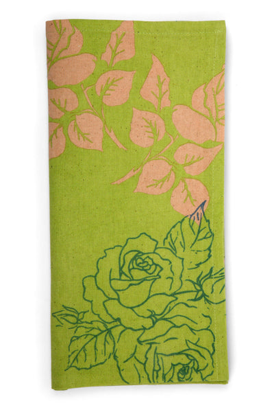Flower Garden Tea Towel (Spring Green)
