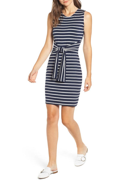 Tie Waist Body-Con Dress
