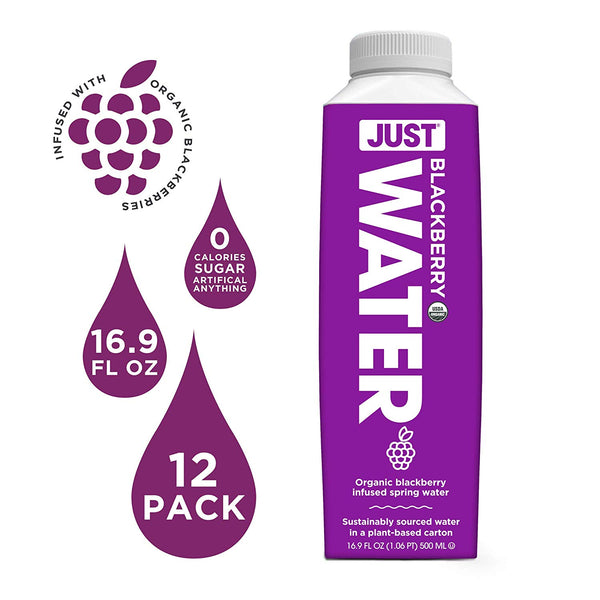JUST Water Infused - Organic Blackberry (Pack of 12)