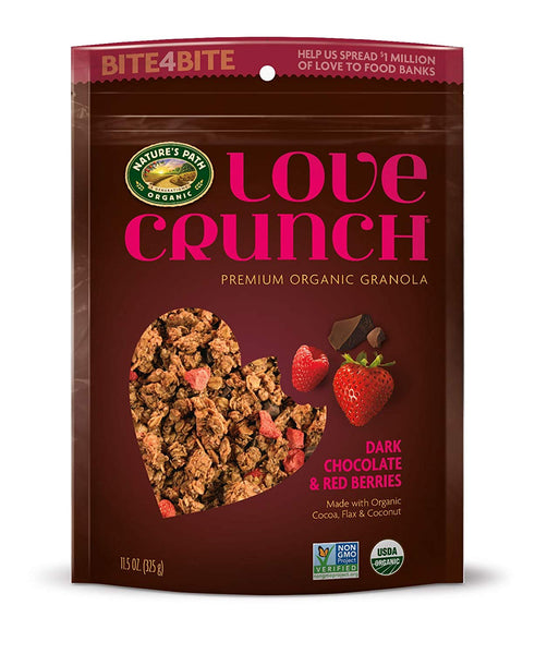 Organic Love Crunch Premium Granola, Dark Chocolate & Red Berries, 11.5 Ounce (Pack of 6)