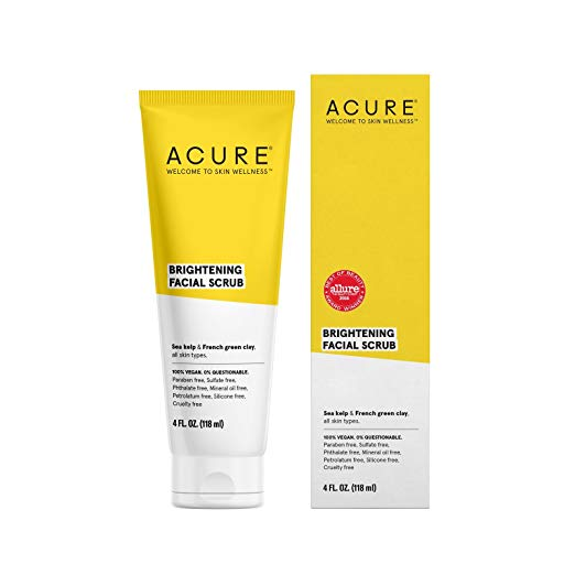 ACURE Brilliantly Brightening Facial Scrub, All Skin Types, 4 Fluid Ounce