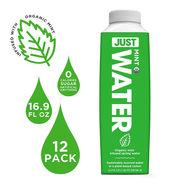 JUST Water Infused - Organic Mint (Pack of 12)