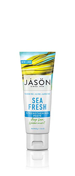 Sea Fresh Strengthening Fluoride-Free Travel Size Toothpaste, Deep Sea Spearmint, 3 oz.