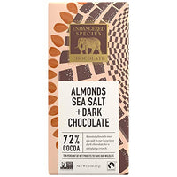 Owl Dark Chocolate with Sea Salt and Almonds, 3 Ounce (Pack of 12)