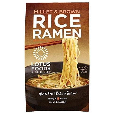 Millet and Brown Rice Ramen with Miso Soup, Low Sodium, 10 Count