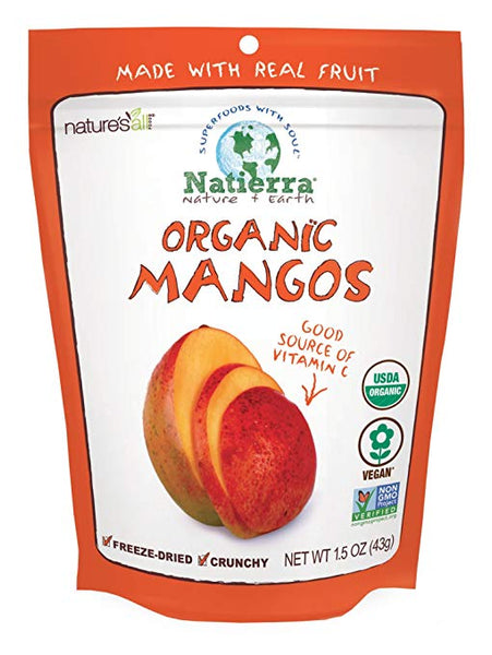 Natierra Nature's All Foods Organic Freeze-Dried Mangos, 1.5 Ounce