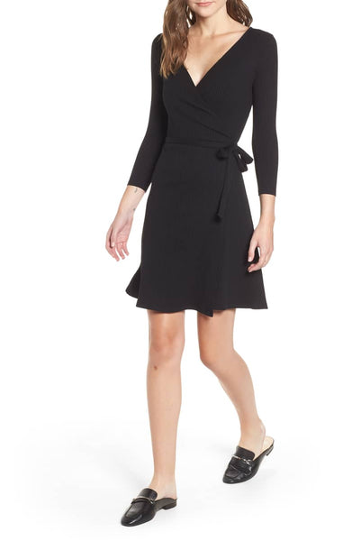 Theodora Rib Wrap Dress