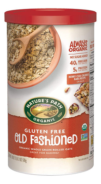 Organic Gluten Free Oats, Old Fashioned, 18 Ounce Canister (Pack of 6)