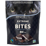 Endangered Species Dark Chocolate Bites, Cocoa, 4.2 Ounce (Pack of 12)