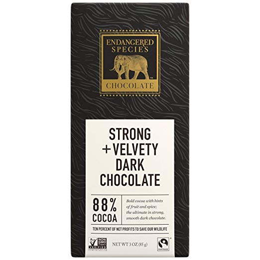 Panther, Dark Chocolate (88%), 3-Ounce Bars (Pack of 12)