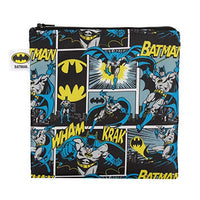 DC Comics Batman Sandwich Bag / Snack Bag, Reusable, Washable, Food Safe, BPA Free, 7x7