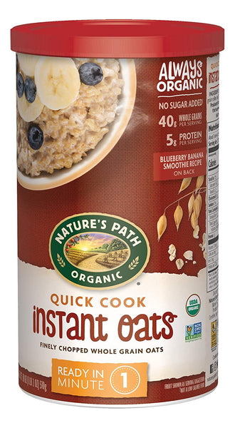 Nature's Path Organic Oats, Quick, 18 Ounce Canister (Pack of 6)