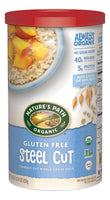 Organic Gluten Free Oats, Steel Cut, 30 Ounce Canister (Pack of 6)