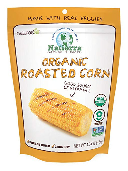 Natierra Nature's All Foods Organic Freeze-Dried Roasted Corn, 1.6 Ounce