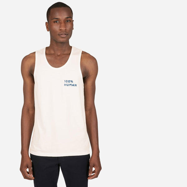 The 100% Human Pride Unisex Tank in Small Print
