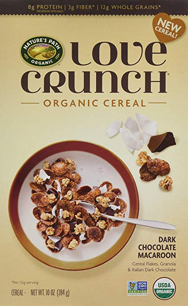 Love Crunch Organic Cereal, Dark Chocolate Macaroon, 6 Count
