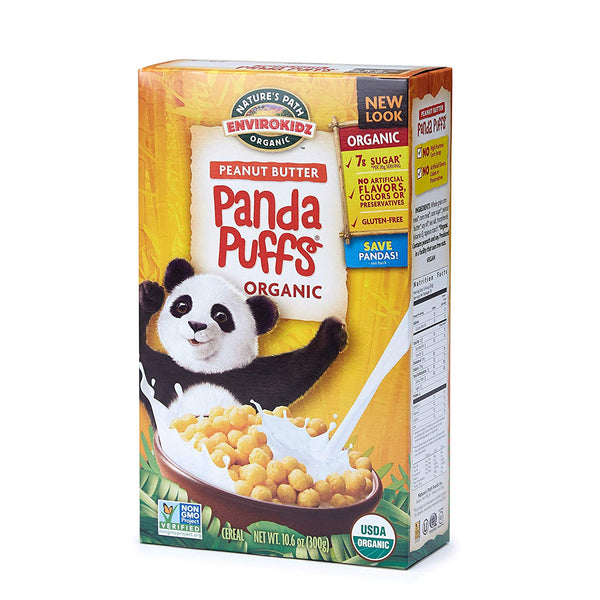 Envirokidz Organic Gluten Free Cereal, Peanut Butter Panda Puffs, 10.6 Ounce Box (Pack of 6)