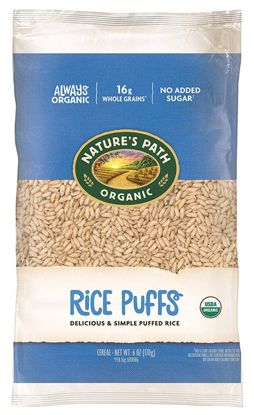 Organic Cereal, Rice Puffs, 6 Ounce Bag (Pack of 12)