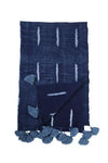 Shibori Block Print Throw