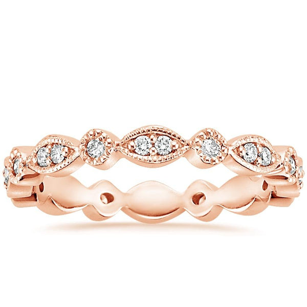 14K Rose Gold Tiara Eternity Diamond Ring (1/4 ct. tw.)