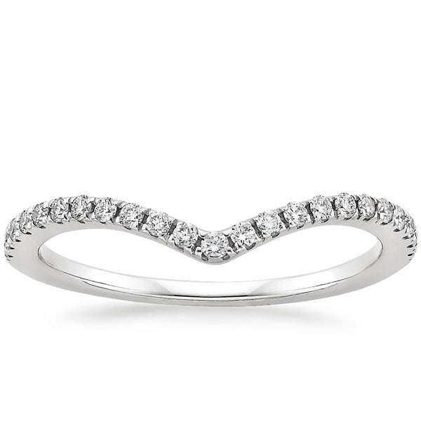 18K White Gold Flair Diamond Ring (1/6 ct. tw.)