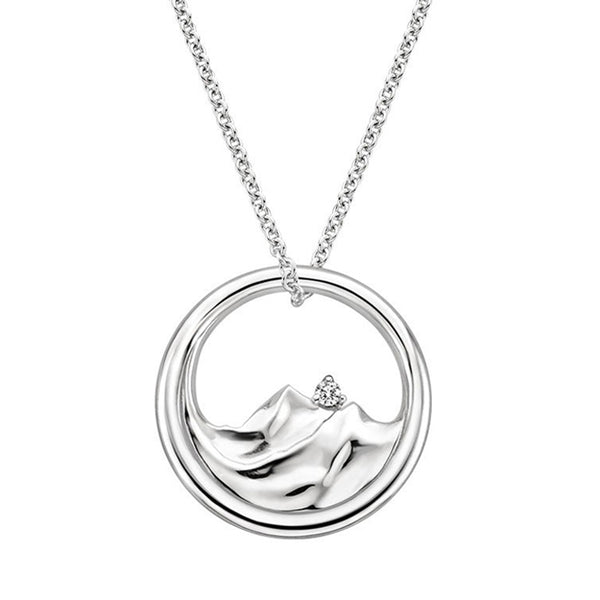Silver Mountain Range Diamond Pendant