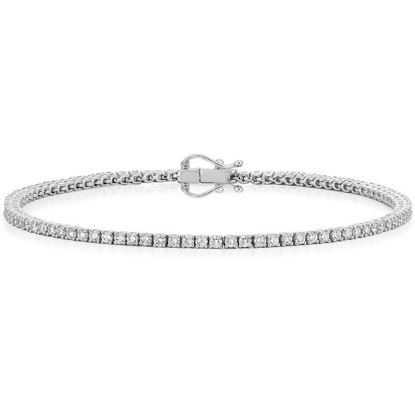 18K White Gold Diamond Tennis Bracelet (2 ct. tw.)
