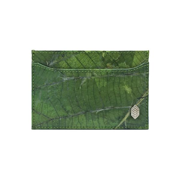 Cardholder in Green Leaf Leather