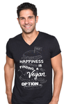 'Happy Vegan' V-neck