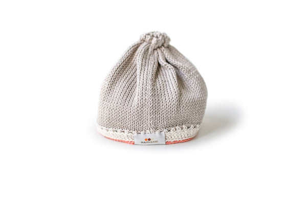 Signature Baby Hat: Taupe Coral