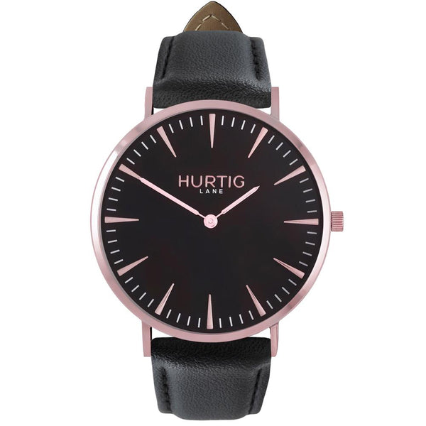 Mykonos Vegan Watch Rose Gold/Black/Black