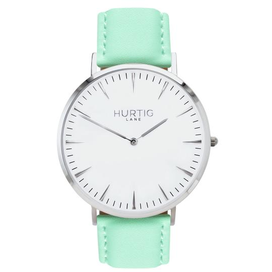Mykonos Vegan Leather Silver/White/Mint