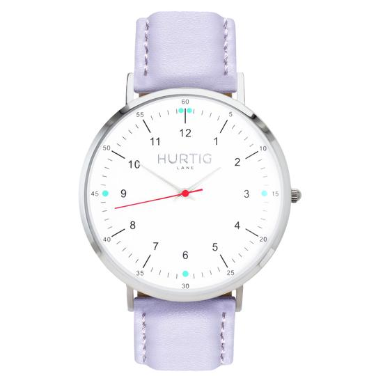 Moderna Vegan Leather Silver/White/Lilac