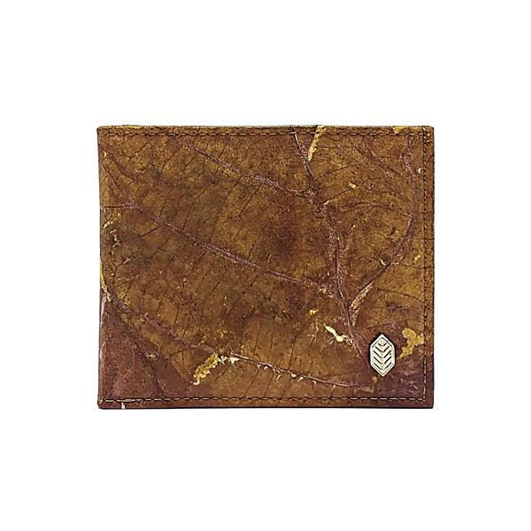 Brown Leaf Bifold Card Wallet