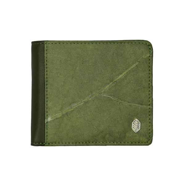 Coin Wallet in Green Leaf Leather