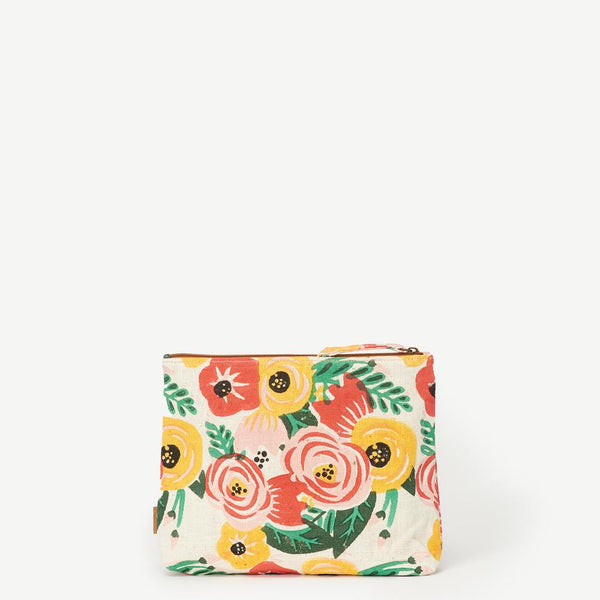 Meena Large Floral Cotton Pouch
