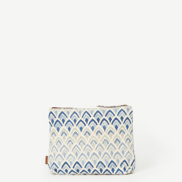Meena Large Signature Print Cotton Pouch
