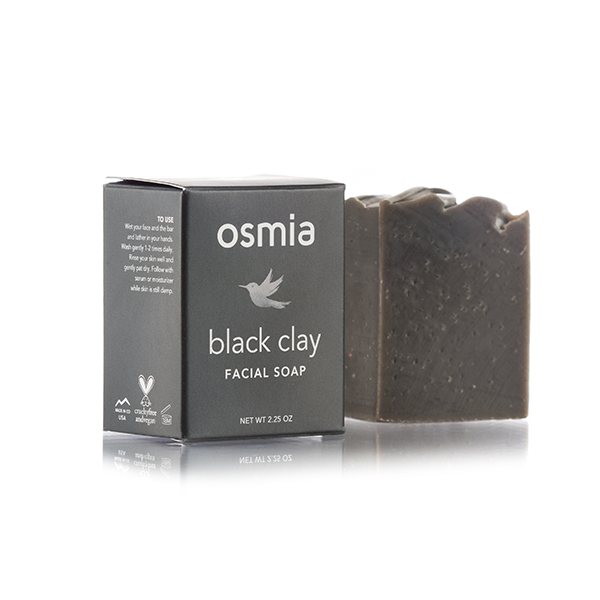 Osmia Organics Black Clay Facial Soap
