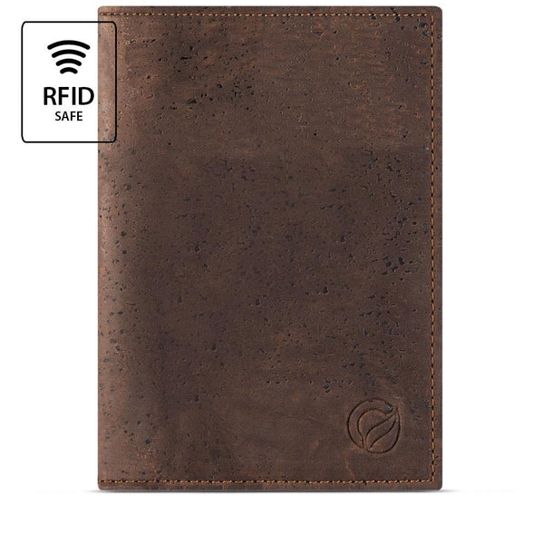 Vegan Passport Wallet Brown