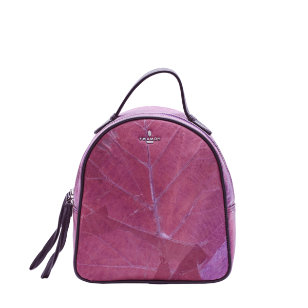 Rachel Backpack in Purple Leaf Leather