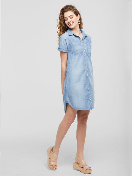The Adriana Chambray Dress