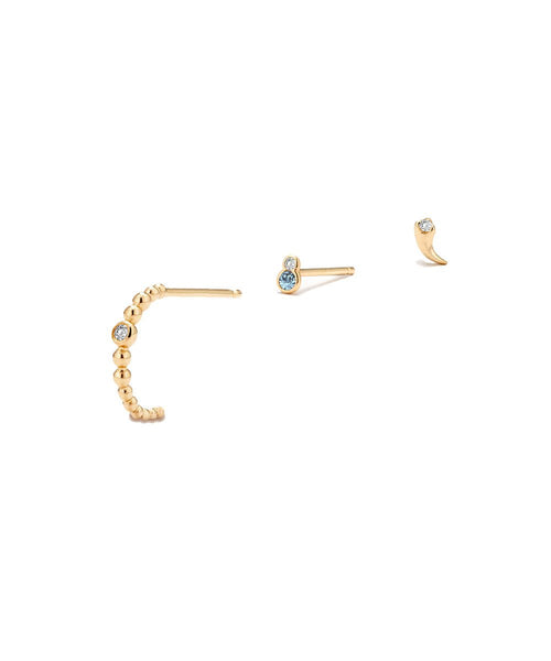 Solid Gold Ear Stacking Set
