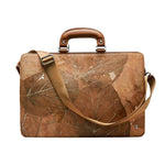 Briefcase in Brown Leaf Leather