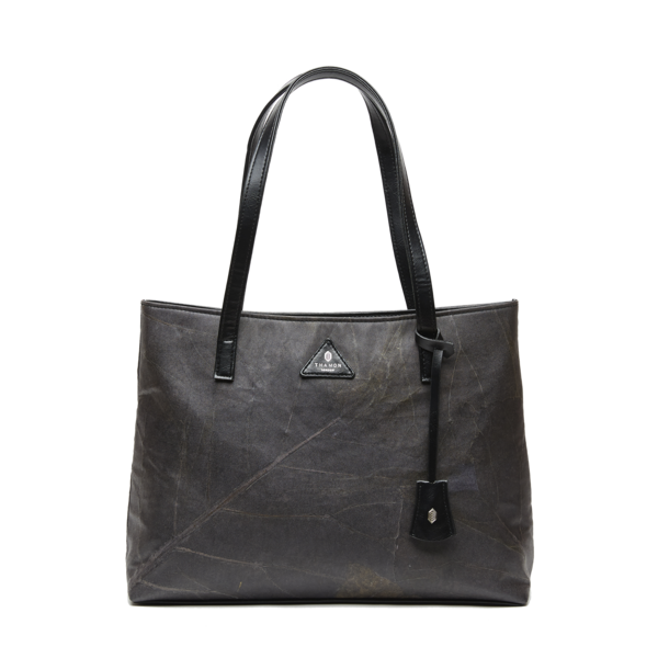 Tote Bag in Black Leaf Leather