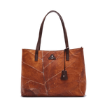 Tote Bag in Brown Leaf Leather