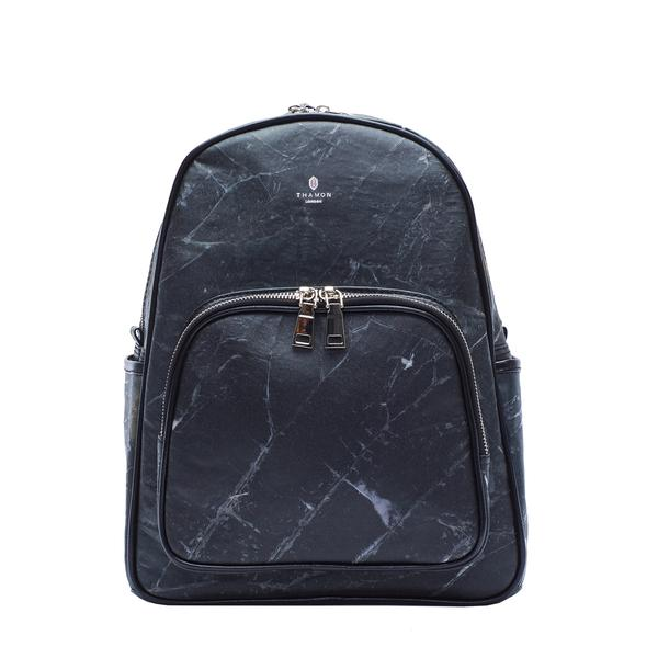 Backpack in Black Leaf Leather