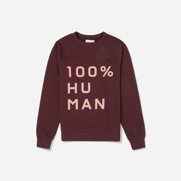 The Human Woman Unisex French Terry Sweatshirt in Large Print