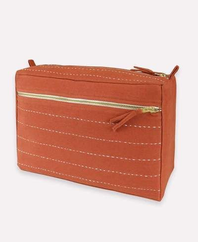Anchal Large Toiletry Bag - Rust Pin